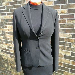 Ann Taylor Loft Black Single Breasted Blazer